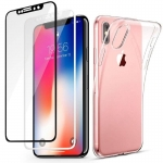 IPhone X TPU Case With Tempered Glass