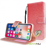 Huawei P30 Wallet Heart Shinny Case