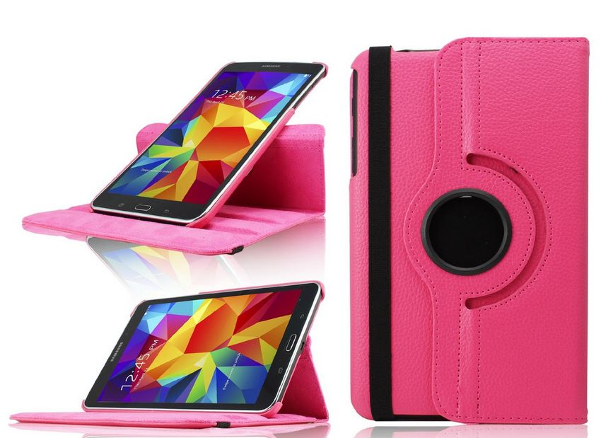 pretty nice 80cb0 4348d Samsung Galaxy Tab 4, 8 Inch, T330 360 Rotating Leather Case - Top ...