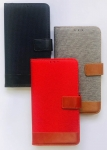IPhone X/XS Wallet Jeans Strip Leather Case